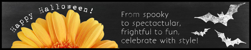 Celebrate Halloween with flowers from your local florist