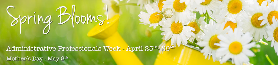 Administrative Professionals Week is April 25-29 - celebrate with spring flowers delivered to the office!