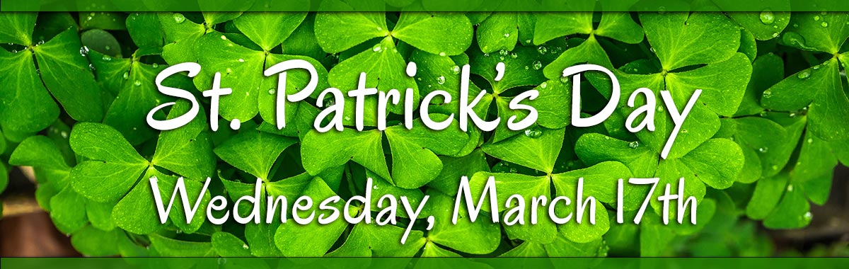 St. Patrick's Day is Wednesday, March 17th.  Send a bouquet of green today!!