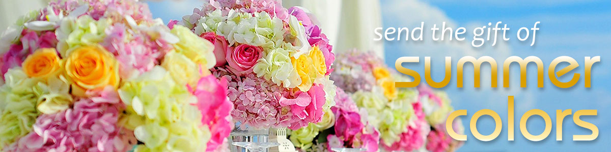 Send someone special the gift of fresh flowers in summer colors today!