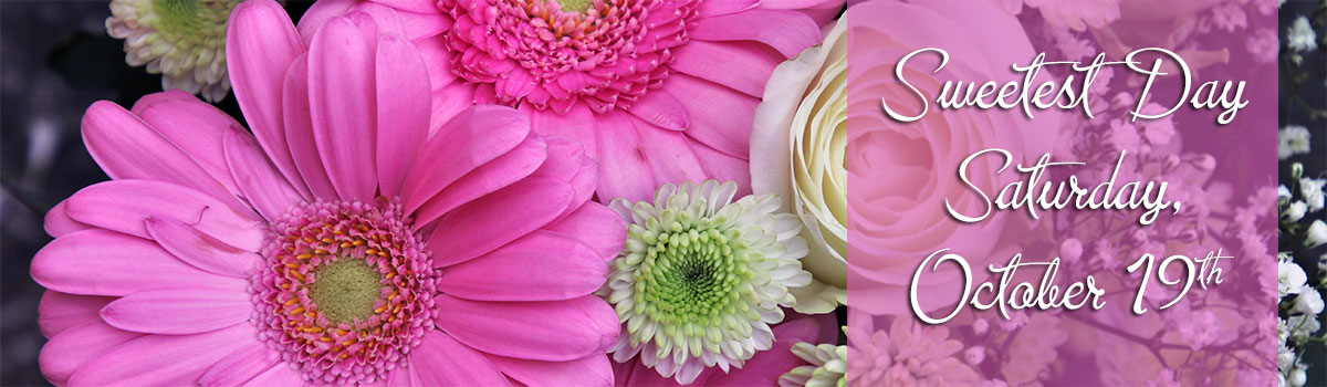 Sweetest Day is Saturday, October 19th. Send a bouquet of sweet fresh flowers today!