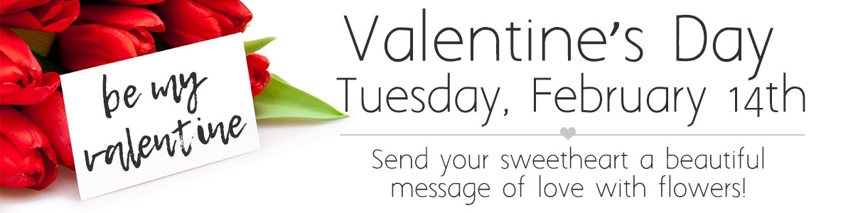 Happy Valetine's Day! Celebrate with beautiful fresh flowers, click here!
