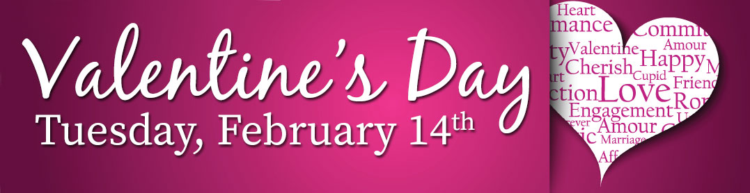 Celebrate your Valentine with fresh flowers. Click here to order today!