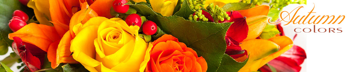 Celebrate the change of season with fresh autumn flowers delivered today!