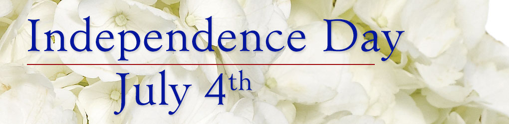 Independence Day is Saturday, July 4th.  Send floral fireworks!