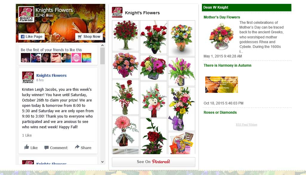 Social Media integration with your florist website is easy with Media99.