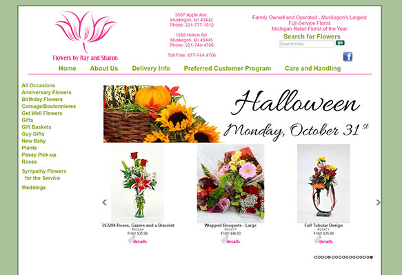 Original florist website design by Media99