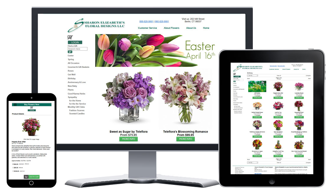 All Media99 Florist Websites are responsive from day one.