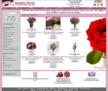 Spedale's Florist Website by Media99 Floral Website Design