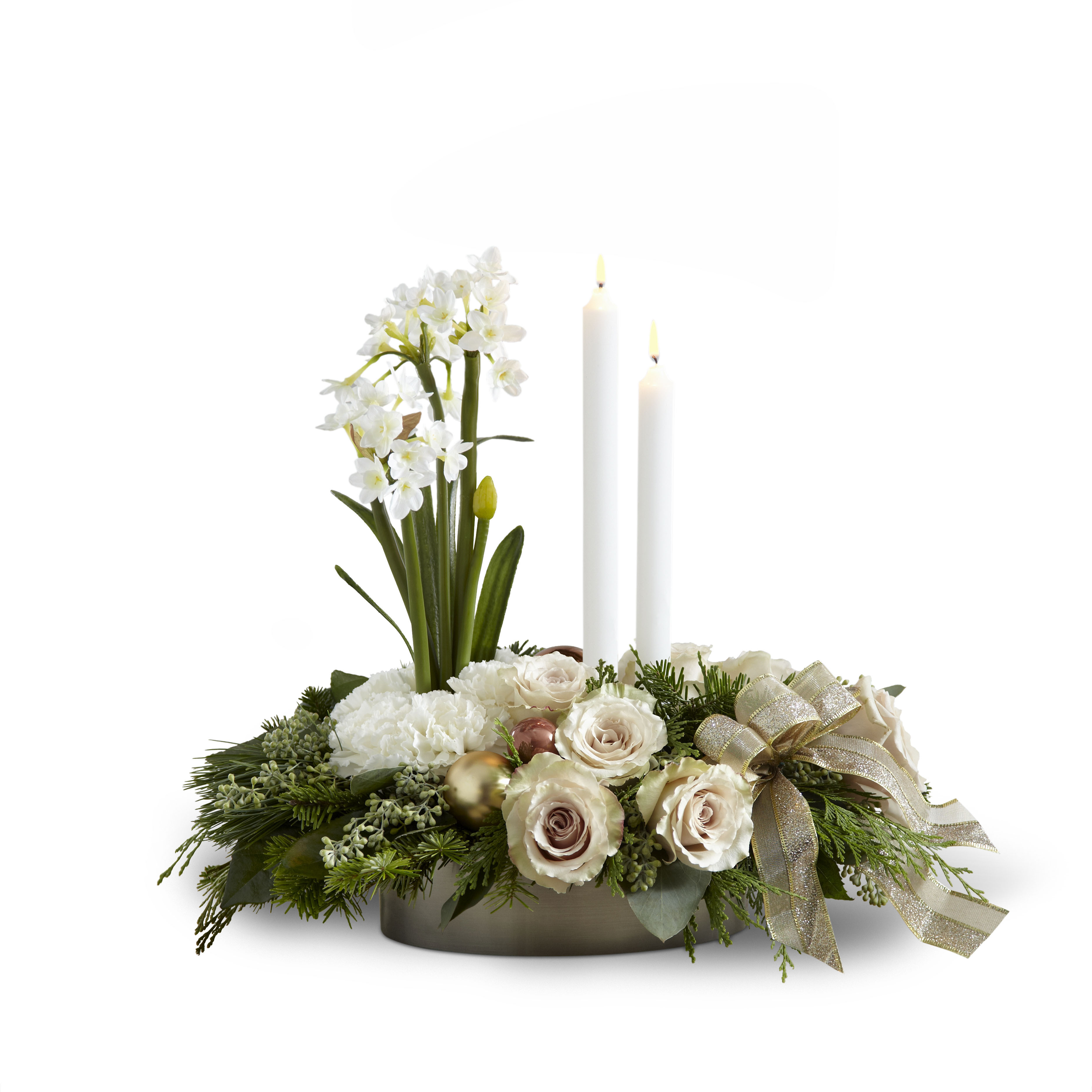The FTD Glowing Elegance Centerpiece