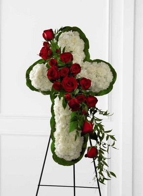 The FTD Floral Cross Easel