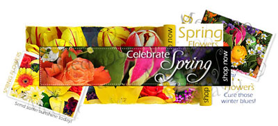 Florist-themed banners for your florist website.